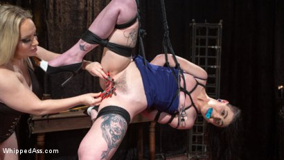 Photo number 4 from Lydia Black is Aiden Starr's Pain Piggy shot for Whipped Ass on Kink.com. Featuring Aiden Starr and Lydia Black in hardcore BDSM & Fetish porn.