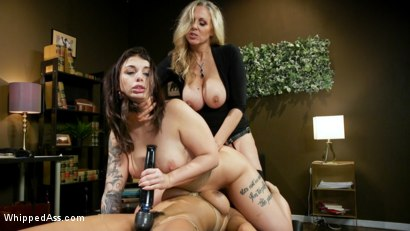 Photo number 30 from Smack Her Ass: New Hire Ivy LeBelle Submits To Jenna Foxx & Julia Ann shot for Whipped Ass on Kink.com. Featuring Julia Ann, Jenna Foxx and Ivy LeBelle in hardcore BDSM & Fetish porn.