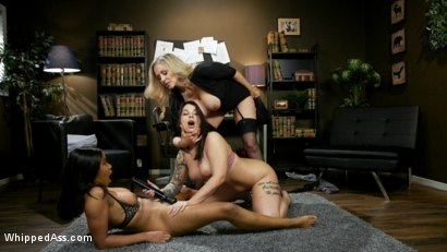 Photo number 13 from Smack Her Ass: New Hire Ivy LeBelle Submits To Jenna Foxx & Julia Ann shot for Whipped Ass on Kink.com. Featuring Julia Ann, Jenna Foxx and Ivy LeBelle in hardcore BDSM & Fetish porn.