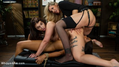 Photo number 28 from Smack Her Ass: New Hire Ivy LeBelle Submits To Jenna Foxx & Julia Ann shot for Whipped Ass on Kink.com. Featuring Julia Ann, Jenna Foxx and Ivy LeBelle in hardcore BDSM & Fetish porn.
