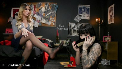Photo number 5 from Noisy Nympho Neighbor shot for TS Pussy Hunters on Kink.com. Featuring Casey Kisses and Charlotte Sartre in hardcore BDSM & Fetish porn.