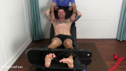 Photo number 16 from Clint Detained & Tickle Tormented shot for My Friends Feet on Kink.com. Featuring Rich and Clint in hardcore BDSM & Fetish porn.
