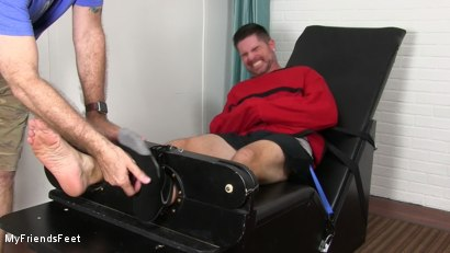 Photo number 3 from Clint Detained & Tickle Tormented shot for My Friends Feet on Kink.com. Featuring Rich and Clint in hardcore BDSM & Fetish porn.