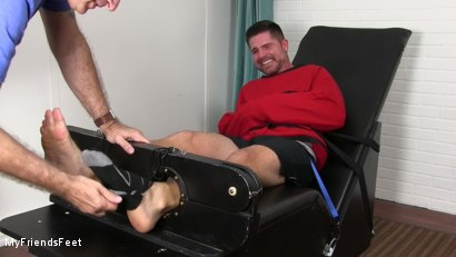 Photo number 4 from Clint Detained & Tickle Tormented shot for My Friends Feet on Kink.com. Featuring Rich and Clint in hardcore BDSM & Fetish porn.