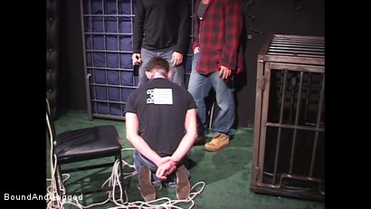 Photo number 14 from Mario's Boy: Now Get Loose..or Else shot for Bound And Gagged on Kink.com. Featuring Sean Patrick, Doug Jeffries and Mario Ortiz in hardcore BDSM & Fetish porn.