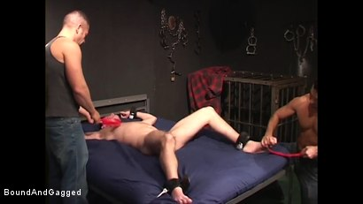 Photo number 23 from Mario's Boy: Now Get Loose..or Else shot for Bound And Gagged on Kink.com. Featuring Sean Patrick, Doug Jeffries and Mario Ortiz in hardcore BDSM & Fetish porn.