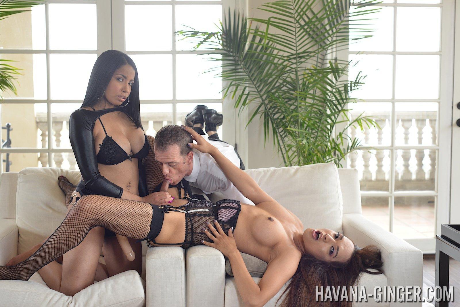 Havana Ginger in Transsexual Team Work