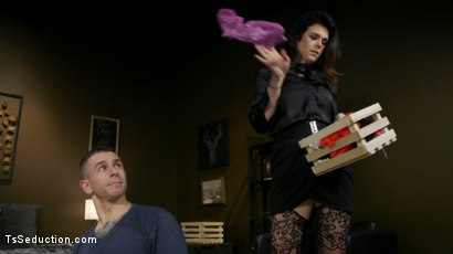 Photo number 1 from Kendall Penny Punishes Task App Guy With Her Cock. shot for TS Seduction on Kink.com. Featuring Corbin Dallas and Kendall Penny in hardcore BDSM & Fetish porn.