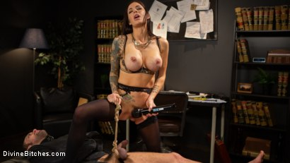 Photo number 14 from Divine Therapy: Gia DiMarco Uses Unconventional Procedures to Punish shot for Divine Bitches on Kink.com. Featuring Gia DiMarco and DJ in hardcore BDSM & Fetish porn.