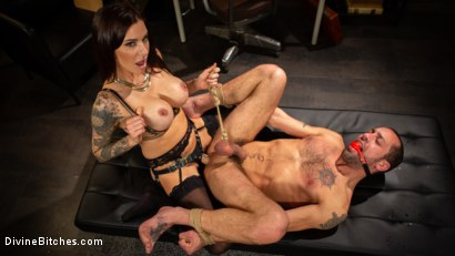 Photo number 8 from Divine Therapy: Gia DiMarco Uses Unconventional Procedures to Punish shot for Divine Bitches on Kink.com. Featuring Gia DiMarco and DJ in hardcore BDSM & Fetish porn.