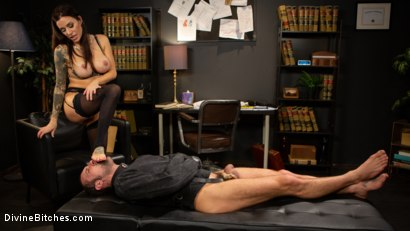 Photo number 11 from Divine Therapy: Gia DiMarco Uses Unconventional Procedures to Punish shot for Divine Bitches on Kink.com. Featuring Gia DiMarco and DJ in hardcore BDSM & Fetish porn.