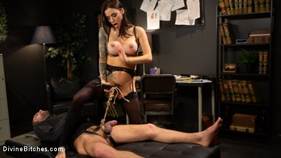 Photo number 13 from Divine Therapy: Gia DiMarco Uses Unconventional Procedures to Punish shot for Divine Bitches on Kink.com. Featuring Gia DiMarco and DJ in hardcore BDSM & Fetish porn.