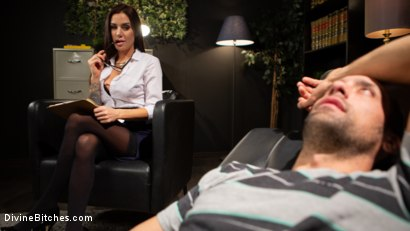 Photo number 1 from Divine Therapy: Gia DiMarco Uses Unconventional Procedures to Punish shot for Divine Bitches on Kink.com. Featuring Gia DiMarco and DJ in hardcore BDSM & Fetish porn.