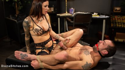 Photo number 7 from Divine Therapy: Gia DiMarco Uses Unconventional Procedures to Punish shot for Divine Bitches on Kink.com. Featuring Gia DiMarco and DJ in hardcore BDSM & Fetish porn.