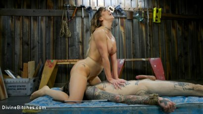 Photo number 15 from Reverse Abduction: Cherie DeVille outwits her captor and takes control shot for Divine Bitches on Kink.com. Featuring Cherie DeVille and Ruckus in hardcore BDSM & Fetish porn.