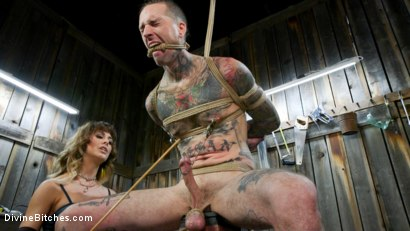 Photo number 3 from Reverse Abduction: Cherie DeVille outwits her captor and takes control shot for Divine Bitches on Kink.com. Featuring Cherie DeVille and Ruckus in hardcore BDSM & Fetish porn.