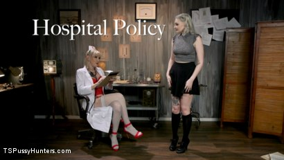 Photo number 1 from Hospital Policy: Nurse Lena Gives Arielle a Naughty Check Up shot for TS Pussy Hunters on Kink.com. Featuring Lena Kelly and Arielle Aquinas in hardcore BDSM & Fetish porn.