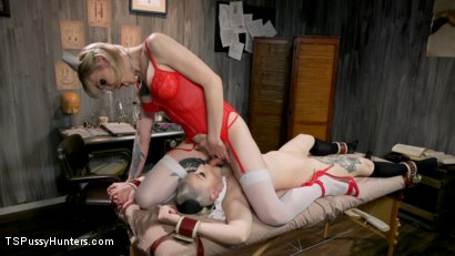 Photo number 8 from Hospital Policy: Nurse Lena Gives Arielle a Naughty Check Up shot for TS Pussy Hunters on Kink.com. Featuring Lena Kelly and Arielle Aquinas in hardcore BDSM & Fetish porn.
