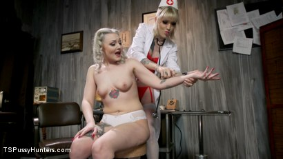 Photo number 2 from Hospital Policy: Nurse Lena Gives Arielle a Naughty Check Up shot for TS Pussy Hunters on Kink.com. Featuring Lena Kelly and Arielle Aquinas in hardcore BDSM & Fetish porn.