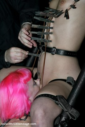 Photo number 9 from Amber Rayne Live Show, Part 1 shot for Device Bondage on Kink.com. Featuring Amber Rayne and Cherry Torn in hardcore BDSM & Fetish porn.