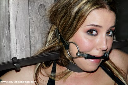 Photo number 4 from Alexa Von Tess Live, Part 1 shot for Device Bondage on Kink.com. Featuring Alexa Von Tess and Delilah Strong in hardcore BDSM & Fetish porn.
