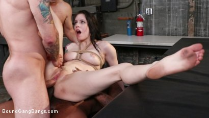 Photo number 34 from Anna De Ville: Welcome to the Warehouse shot for Bound Gang Bangs on Kink.com. Featuring Anna De Ville, Robby Echo, Eddie Jaye, Mr. Pete, Rob Piper and Johnny Goodluck in hardcore BDSM & Fetish porn.