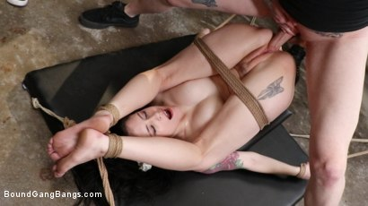Photo number 15 from Anna De Ville: Welcome to the Warehouse shot for Bound Gang Bangs on Kink.com. Featuring Anna De Ville, Robby Echo, Eddie Jaye, Mr. Pete, Rob Piper and Johnny Goodluck in hardcore BDSM & Fetish porn.