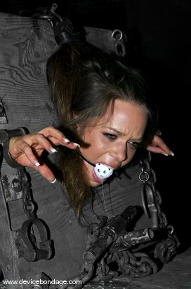 Photo number 4 from Julie Night Live, Part 1 shot for Device Bondage on Kink.com. Featuring Julie Night and Devaun in hardcore BDSM & Fetish porn.
