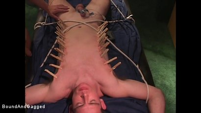 Photo number 17 from Mario's Boy: Sean Shaved, Pinned, and Electrified shot for Bound And Gagged on Kink.com. Featuring Sean Patrick, Doug Jeffries and Mario Ortiz in hardcore BDSM & Fetish porn.