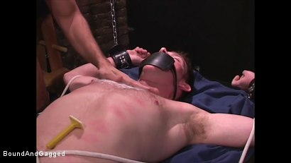 Photo number 5 from Mario's Boy: Sean Shaved, Pinned, and Electrified shot for Bound And Gagged on Kink.com. Featuring Sean Patrick, Doug Jeffries and Mario Ortiz in hardcore BDSM & Fetish porn.