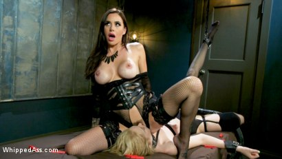 Photo number 18 from The Good Slave & The Filthy Slut: Gia DiMarco Dominates Them Both! shot for Whipped Ass on Kink.com. Featuring Gia DiMarco, Chloe Cherry and Ashlee Juliet in hardcore BDSM & Fetish porn.