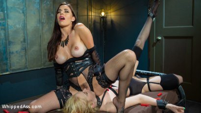 Photo number 19 from The Good Slave & The Filthy Slut: Gia DiMarco Dominates Them Both! shot for Whipped Ass on Kink.com. Featuring Gia DiMarco, Chloe Cherry and Ashlee Juliet in hardcore BDSM & Fetish porn.