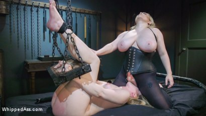 Photo number 21 from Cum Slut, Cum: Aiden Starr Demands Orgasms From Anal Lesbian Slave shot for Whipped Ass on Kink.com. Featuring Aiden Starr and Dresden in hardcore BDSM & Fetish porn.