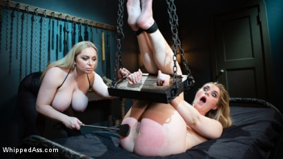 Photo number 5 from Cum Slut, Cum: Aiden Starr Demands Orgasms From Anal Lesbian Slave shot for Whipped Ass on Kink.com. Featuring Aiden Starr and Dresden in hardcore BDSM & Fetish porn.