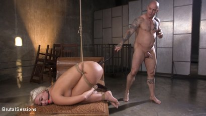 Photo number 14 from MILF Slut London River Anal Fucked In Rope Bondage and Impact Play! shot for Brutal Sessions on Kink.com. Featuring Derrick Pierce and London River in hardcore BDSM & Fetish porn.