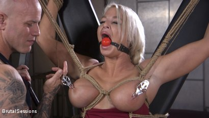 Photo number 3 from MILF Slut London River Anal Fucked In Rope Bondage and Impact Play! shot for Brutal Sessions on Kink.com. Featuring Derrick Pierce and London River in hardcore BDSM & Fetish porn.