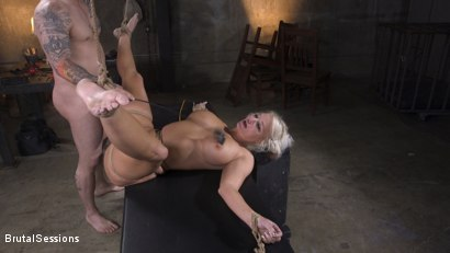 Photo number 26 from MILF Slut London River Anal Fucked In Rope Bondage and Impact Play! shot for Brutal Sessions on Kink.com. Featuring Derrick Pierce and London River in hardcore BDSM & Fetish porn.