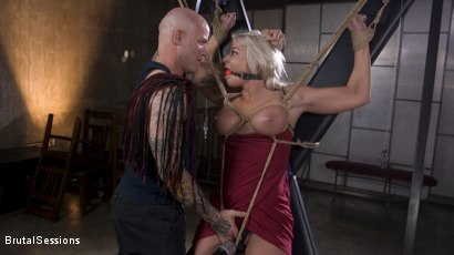 Photo number 4 from MILF Slut London River Anal Fucked In Rope Bondage and Impact Play! shot for Brutal Sessions on Kink.com. Featuring Derrick Pierce and London River in hardcore BDSM & Fetish porn.