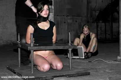 Photo number 9 from Bobbi Starr Live, Part 1 shot for Device Bondage on Kink.com. Featuring Bobbi Starr, Sarah Jane Ceylon and Kayden Faye in hardcore BDSM & Fetish porn.