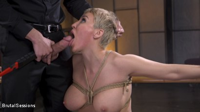 Photo number 12 from Big Titted Goddess Ryan Keely Fucked, Disciplined in Rope Bondage shot for Brutal Sessions on Kink.com. Featuring Stirling Cooper  and Ryan Keely in hardcore BDSM & Fetish porn.