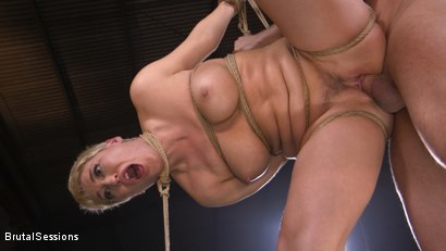 Photo number 24 from Big Titted Goddess Ryan Keely Fucked, Disciplined in Rope Bondage shot for Brutal Sessions on Kink.com. Featuring Stirling Cooper  and Ryan Keely in hardcore BDSM & Fetish porn.