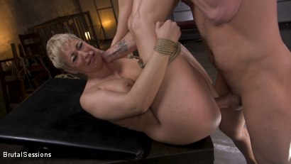 Photo number 29 from Big Titted Goddess Ryan Keely Fucked, Disciplined in Rope Bondage shot for Brutal Sessions on Kink.com. Featuring Stirling Cooper  and Ryan Keely in hardcore BDSM & Fetish porn.