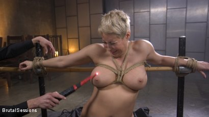 Photo number 9 from Big Titted Goddess Ryan Keely Fucked, Disciplined in Rope Bondage shot for Brutal Sessions on Kink.com. Featuring Stirling Cooper  and Ryan Keely in hardcore BDSM & Fetish porn.