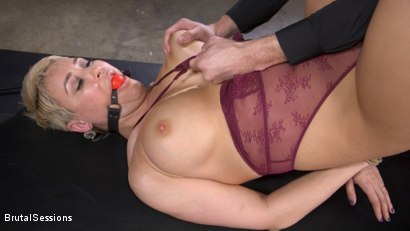 Photo number 2 from Big Titted Goddess Ryan Keely Fucked, Disciplined in Rope Bondage shot for Brutal Sessions on Kink.com. Featuring Stirling Cooper  and Ryan Keely in hardcore BDSM & Fetish porn.