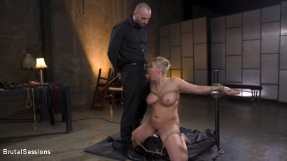 Photo number 13 from Big Titted Goddess Ryan Keely Fucked, Disciplined in Rope Bondage shot for Brutal Sessions on Kink.com. Featuring Stirling Cooper  and Ryan Keely in hardcore BDSM & Fetish porn.