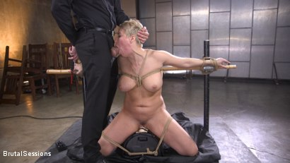 Photo number 18 from Big Titted Goddess Ryan Keely Fucked, Disciplined in Rope Bondage shot for Brutal Sessions on Kink.com. Featuring Stirling Cooper  and Ryan Keely in hardcore BDSM & Fetish porn.