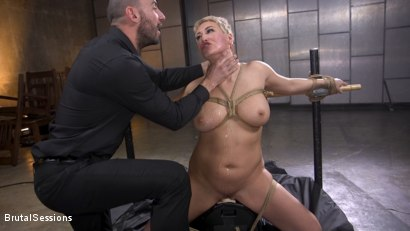 Photo number 19 from Big Titted Goddess Ryan Keely Fucked, Disciplined in Rope Bondage shot for Brutal Sessions on Kink.com. Featuring Stirling Cooper  and Ryan Keely in hardcore BDSM & Fetish porn.