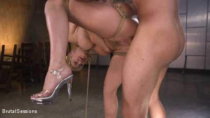 Photo number 23 from Big Titted Goddess Ryan Keely Fucked, Disciplined in Rope Bondage shot for Brutal Sessions on Kink.com. Featuring Stirling Cooper  and Ryan Keely in hardcore BDSM & Fetish porn.