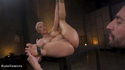 Photo number 26 from Big Titted Goddess Ryan Keely Fucked, Disciplined in Rope Bondage shot for Brutal Sessions on Kink.com. Featuring Stirling Cooper  and Ryan Keely in hardcore BDSM & Fetish porn.