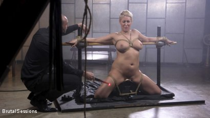 Photo number 8 from Big Titted Goddess Ryan Keely Fucked, Disciplined in Rope Bondage shot for Brutal Sessions on Kink.com. Featuring Stirling Cooper  and Ryan Keely in hardcore BDSM & Fetish porn.